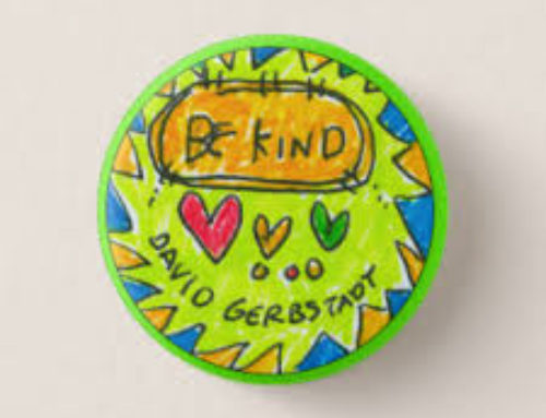 Read David's inspirational story and pick up your own Kindness Button!