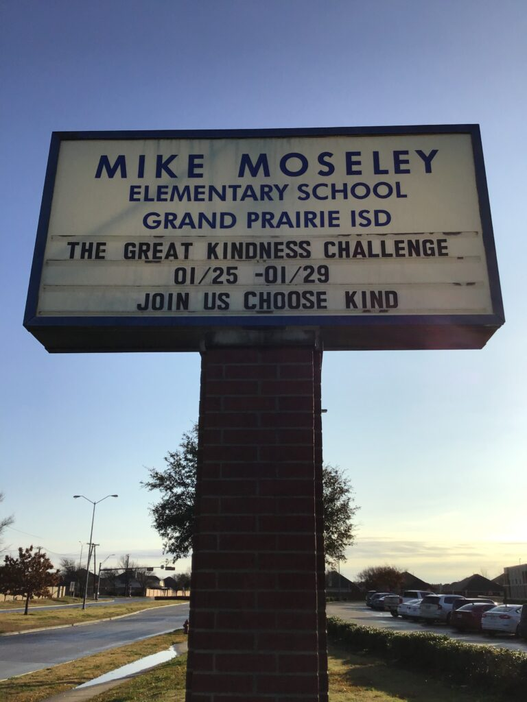 Marquee Mike Mosely Elementary